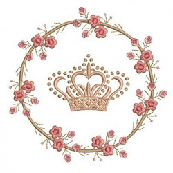 FLORAL FRAME WITH CROWN 2