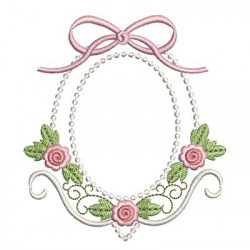 FLORAL FRAME WITH TIE 12