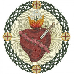 IMMACULATE HEART OF MARY IN FRAME