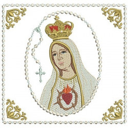 EMBROIDERED ALTAR CLOTHS HEART OF FATIMA - 131