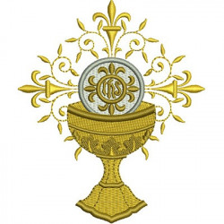 CHALICE WITH CONSECRATED HOSTS 12 CM