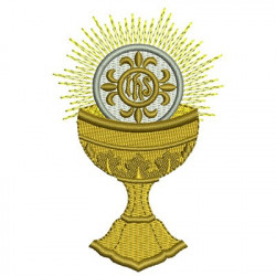 CHALICE WITH CONSECRATED HOSTS 2