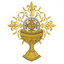 CHALICE WITH SMALL ADORNED HOSTS
