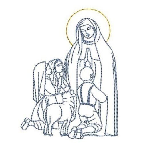 Nossa Senhora De Fatima 8 Cm