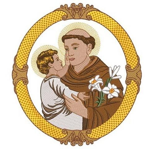 Santo Antonio Na Medalha 26 Cm