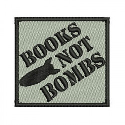 BOOKS NOT BOMBS PATCH