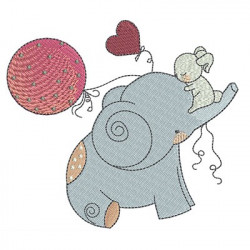 ELEPHANT WITH BALLOONS September 2016