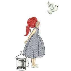 GIRL AND THE CAGE