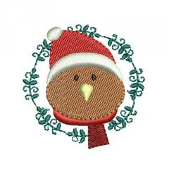 BIRDIE ON CHRISTMAS FRAME