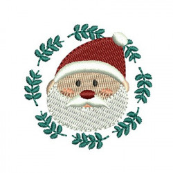 SANTA CLAUS ON CHRISTMAS FRAME