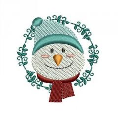 SNOWMAN ON CHRISTMAS FRAME