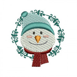 SNOWMAN ON CHRISTMAS FRAME
