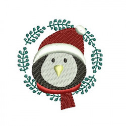 PENGUIN ON CHRISTMAS FRAME