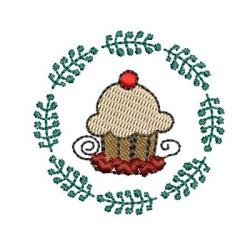 CUPCAKE ON CHRISTMAS FRAME