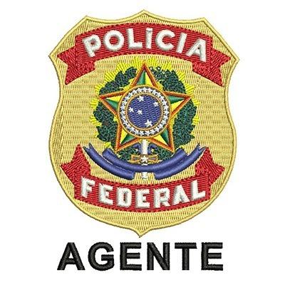 ESCUDO POLÍCIA FEDERAL AGENTE