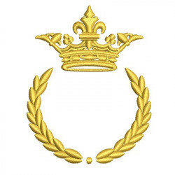 BRANCH WITH CROWN 8 CM