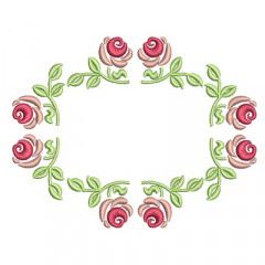 FRAME WITH ROSES 2