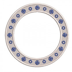 ROUND FRAME WITH CROSS